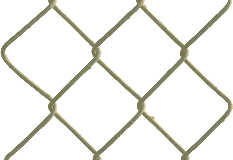 four gold link chain fence