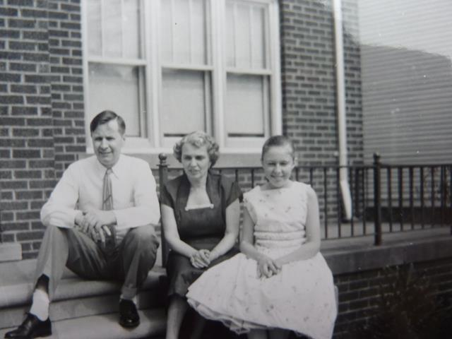 Dolores S. Slowinski's with parents in 1958 westside Detroit